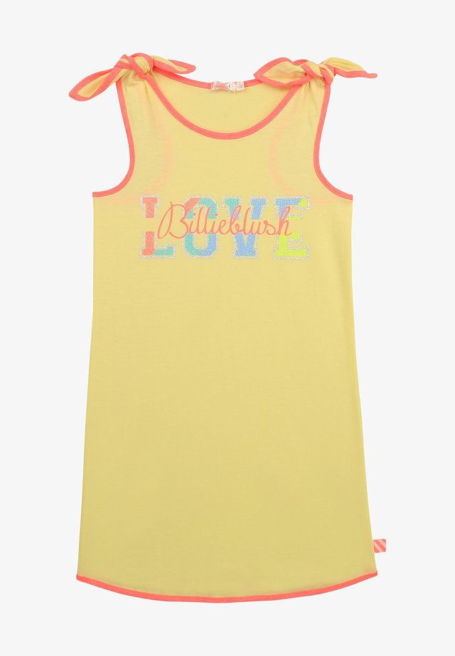 Korte jurk - light lime