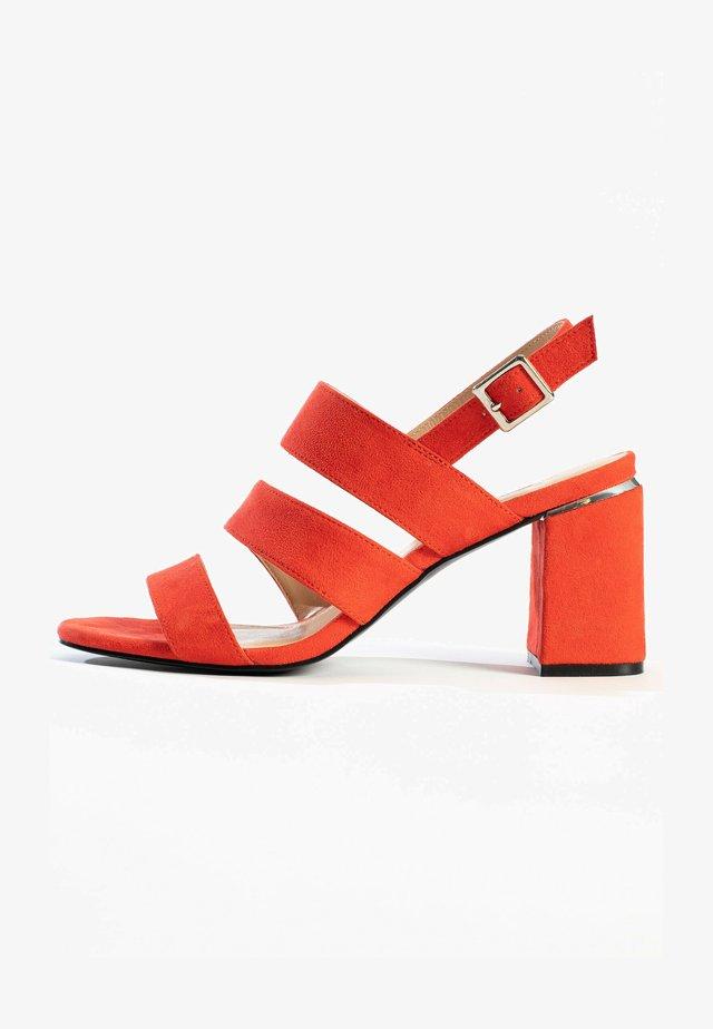 CHARIS - Sandalen met hoge hak - red