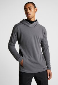 Nike Performance - Jersey con capucha - iron grey/black - 0