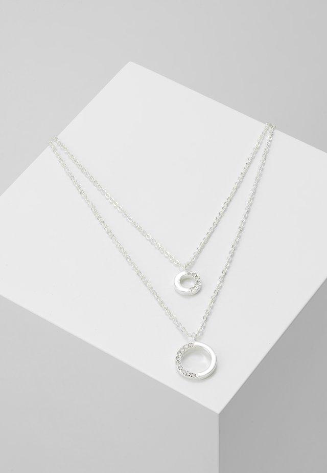 PORTAL DOUBLE NECK - Collana - silver-coloured