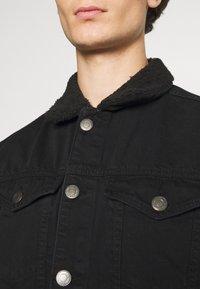 Newport Bay Sailing Club - BORG TRUCKER - Denim jacket - black - 6