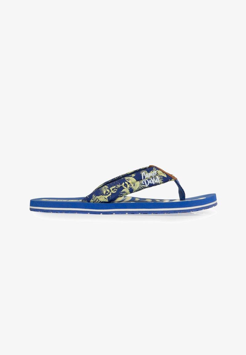 Camp David - MUSTERPRINT - T-bar sandals - action blue