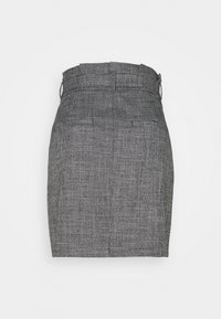 Vero Moda - VMEVA PAPERBAG SHORT SKIRT - Mini skirt - black/houndstooth grey/white - 1