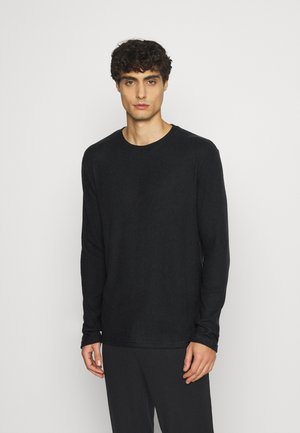 RIBBED LOUNGE TOP - Pyjama top - black