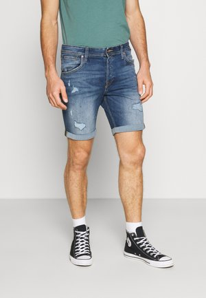JJIRICK JJFOX  - Denim shorts - blue denim
