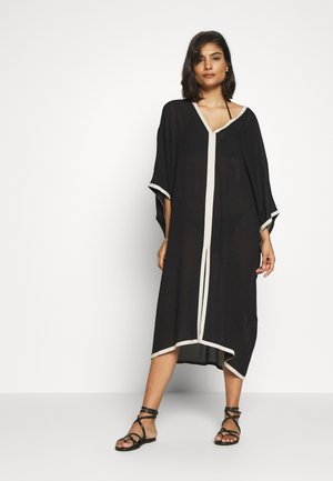 TWO TONE BEACH KAFTAN - Beach accessory - black/ivory