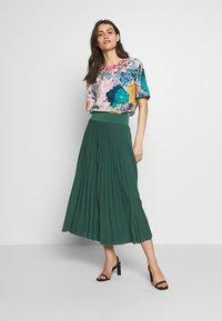 Anna Field - Plisse A-line midi skirt - Áčková sukně - teal - 1