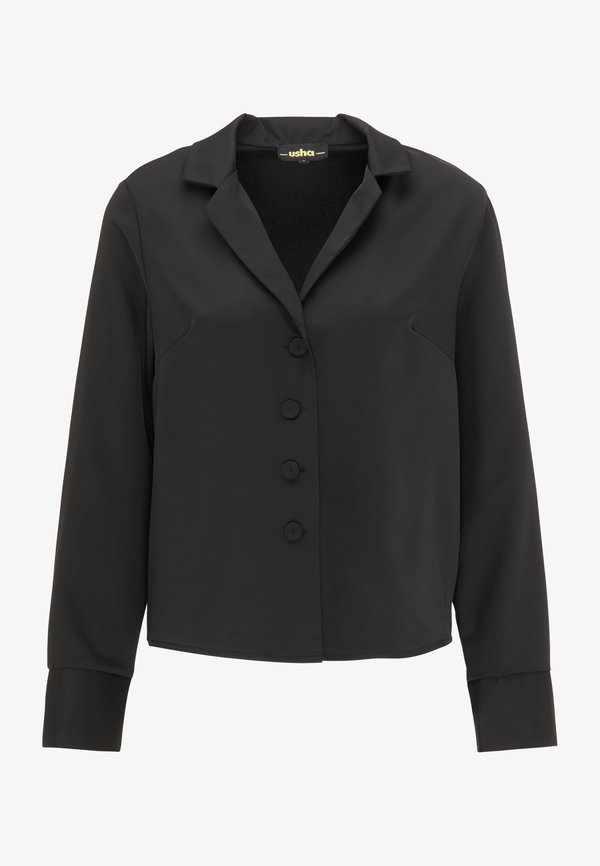 usha BLUSE - Koszula - schwarz/czarny DSYL