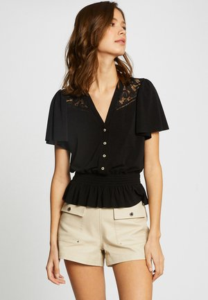 WITH LACE - Blouse - black