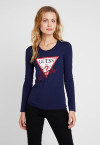 Guess - ICON TEE - Long sleeved top - blue jam - 0