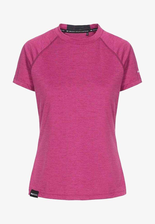 Print T-shirt - berry marl