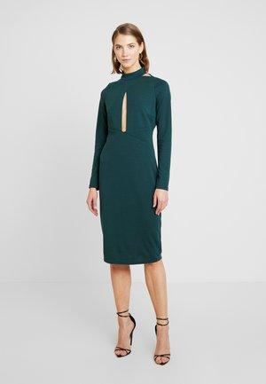 PLUNGE BODYCON DRESS - Juhlamekko - green