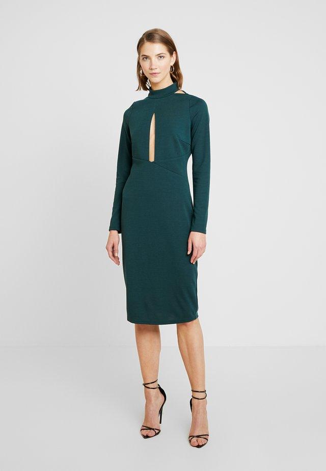 PLUNGE BODYCON DRESS - Robe de soirée - green