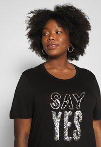 Simply Be - SEQUIN - T-shirts print - black - 3