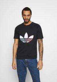 adidas Originals - TRICOL TEE UNISEX - T-shirts print - black - 0