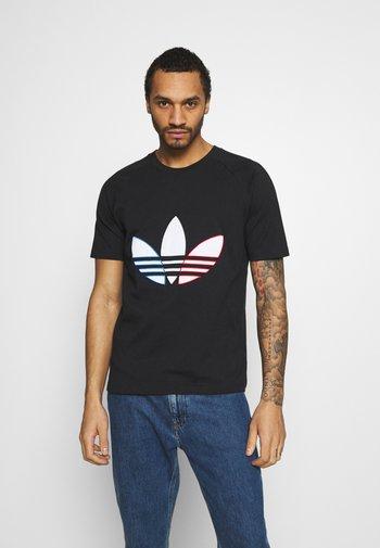 TRICOL TEE UNISEX - T-shirt z nadrukiem - black