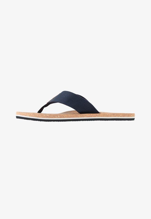SIGNATURE BEACH - T-bar sandals - blue