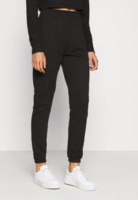 Missguided Tall - CROP JOGGER COORD set - Sweatshirt - black - 3