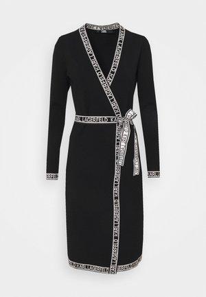 WRAP DRESS - Jumper dress - black