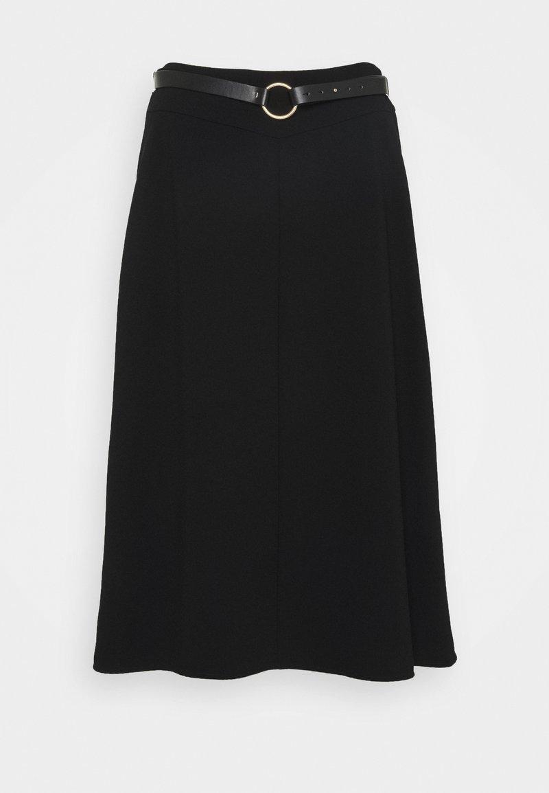 comma - Áčková sukně - black