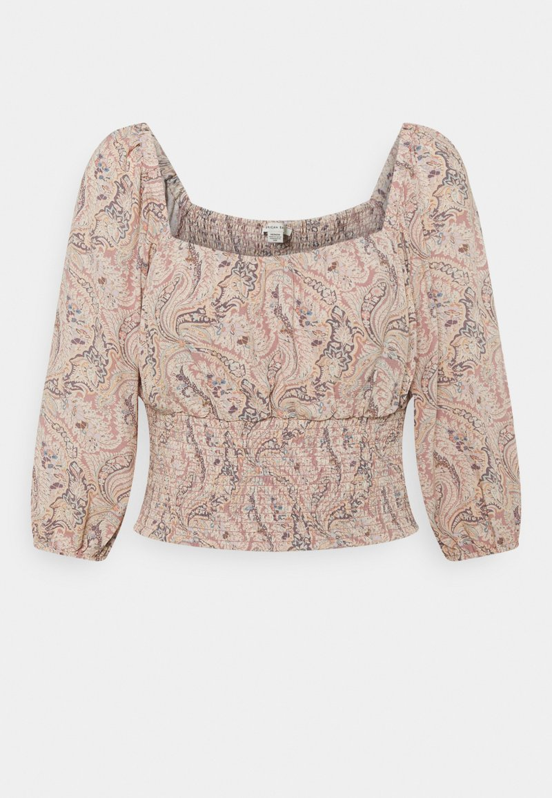 American Eagle - RUCHED FRONT - Bluser - multicoloured