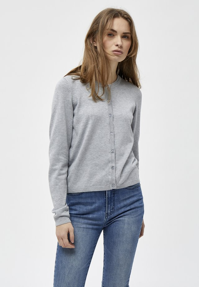 TANA  - Strikjakke /Cardigans - light grey mel.