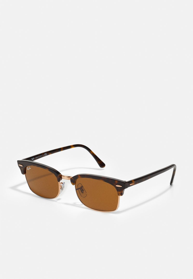 Ray-Ban - CLUBMASTER SQUARE - Sunglasses - mottled brown/brown