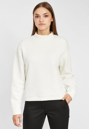 Sweatshirt - white melee