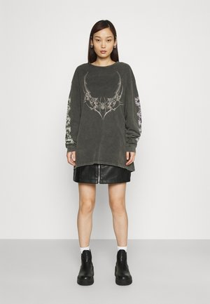 TRIABL SPIDER ACID WASH - Long sleeved top - charcoal