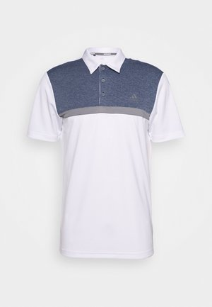 PERFORMANCE SPORTS GOLF SHORT SLEEVE  - Koszulka polo - white/collegiate navy melange