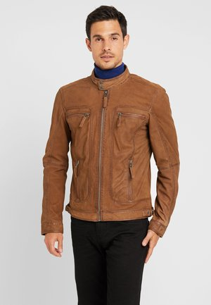 CASTEL - Leather jacket - coffee