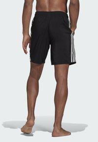 adidas Performance - 3 STRIPES CLASSICS PRIMEGREEN SWIM SHORTS - Shorts da mare - black/white - 1