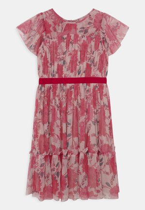 DRESS WITH WAISTBAND - Cocktailjurk - pink