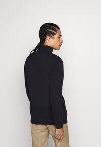 Jack & Jones - JORELI HIGH NECK ZIP - Svetr - dark blue - 2