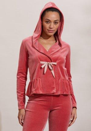 HELENA - Zip-up hoodie - dusted rouge
