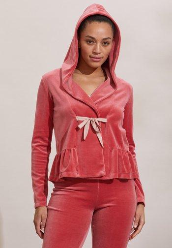 HELENA - Zip-up sweatshirt - dusted rouge