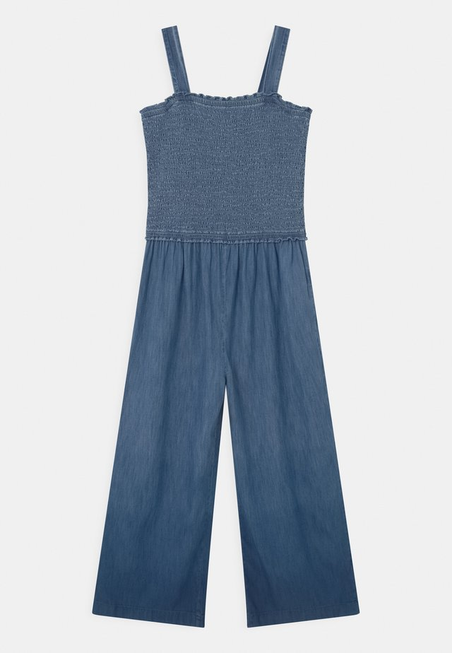 GIRL SMOCKED - Tuta jumpsuit - ombre blue