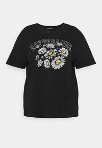 Even&Odd Curvy - T-shirts med print - black - 4