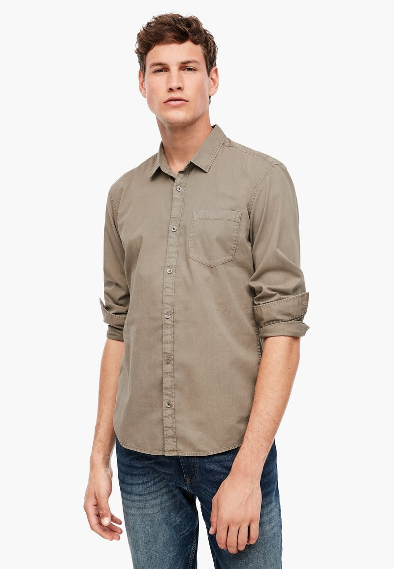 Q/S designed by - Shirt - light brown