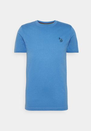 SLIM FIT ZEBRA - T-shirts basic - blue
