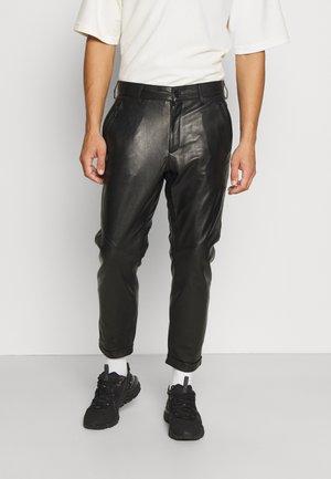 ALEKO SOFT  - Leather trousers - black