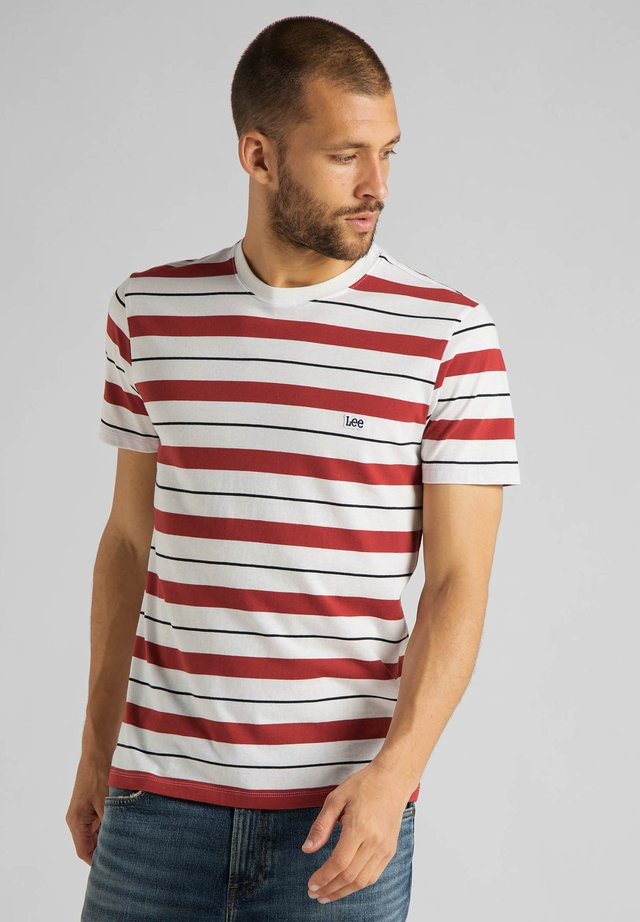 STRIPE TEE - Camiseta estampada - red ochre