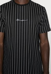 Mennace - TEE WITH EMBROIDERY - T-shirt med print - black - 4