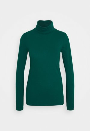 TISSUE TURTLENECK TEE - Long sleeved top - dark spruce