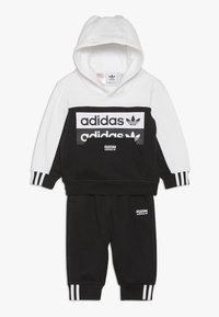 adidas Originals - HOODIE SET - Hoodie - black/white - 0