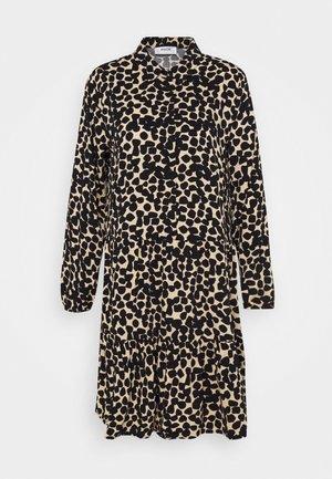 LAURALEE RAYE DRESS - Skjortekjole - brown / black