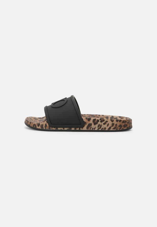 KOS - Sandali da bagno - black
