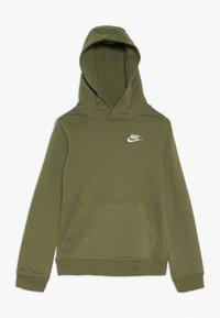 Nike Sportswear - HOODIE CLUB - Hoodie - medium olive/white - 0