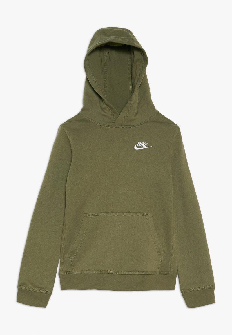 Nike Sportswear - HOODIE CLUB - Hoodie - medium olive/white