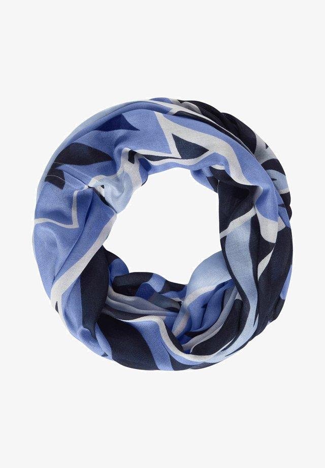 MIT PRINT - Snood - blau